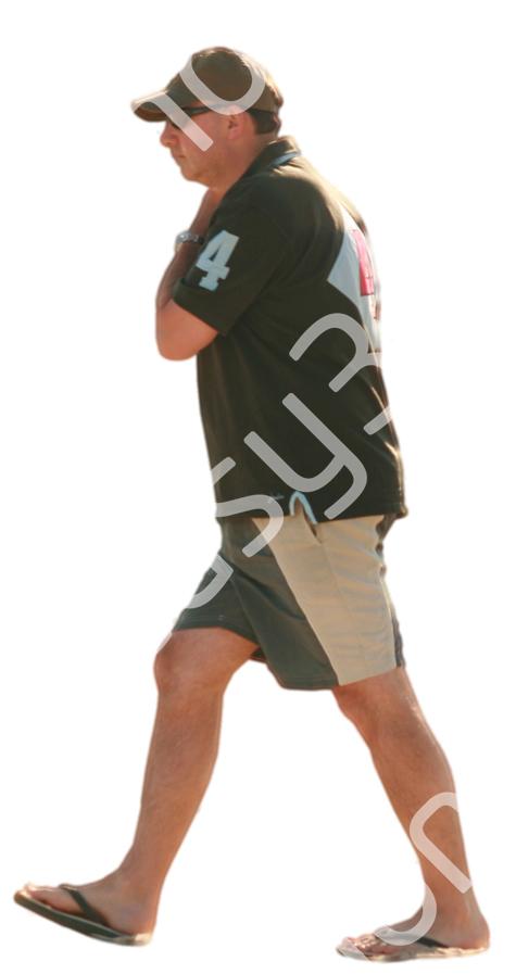 (Single) Beach People V. 1 #001 man, walking