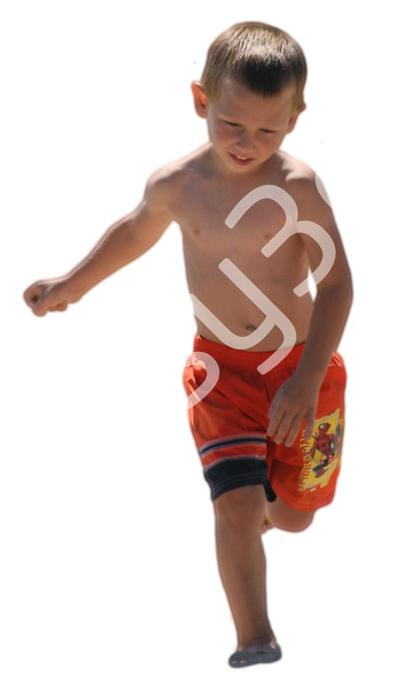 (Single) Beach People V. 1 #021 young boy, running forward