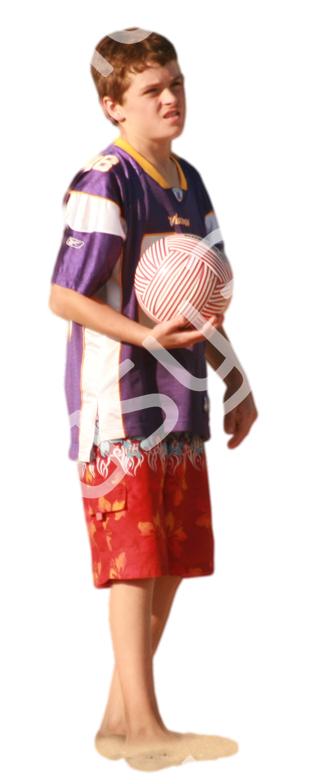 (Single) Beach People V. 1 #046 boy, holding ball