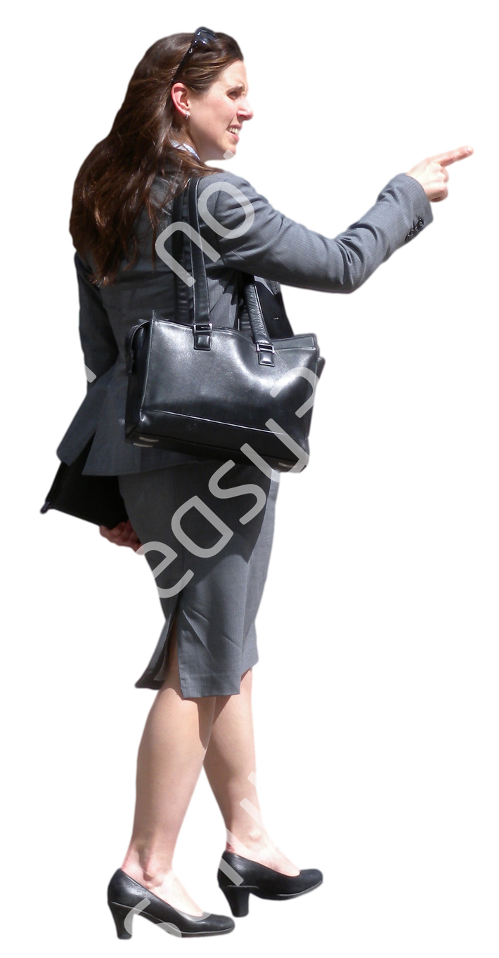 (Single) Business People V. 1 #024 woman, standing