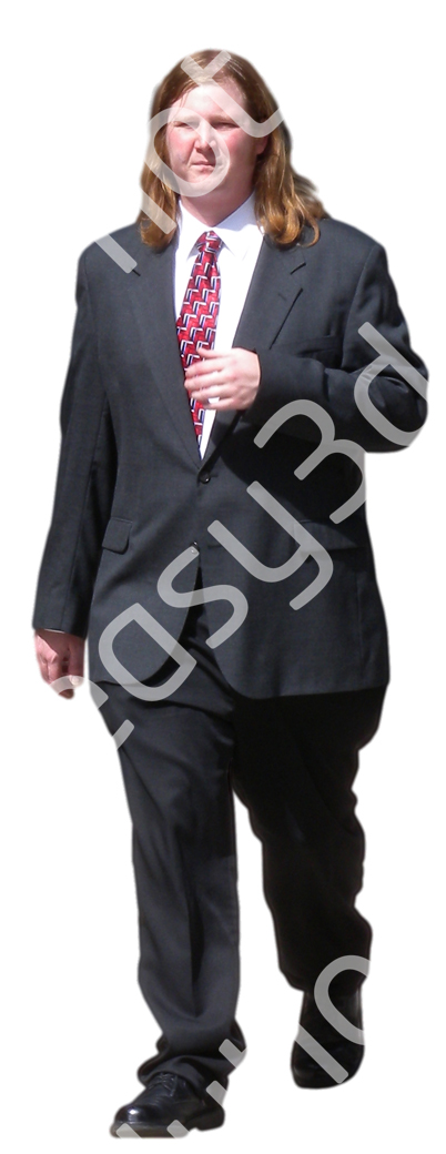 (Single) Business People V. 1 #026 man, walking