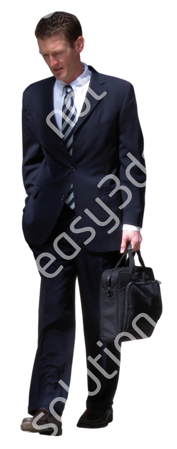 (Single) Business People V. 1 #028 man, walking
