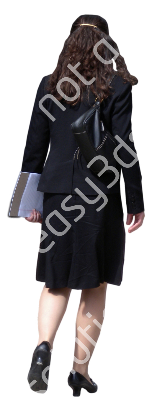 (Single) Business People V. 1 #032 woman, walking