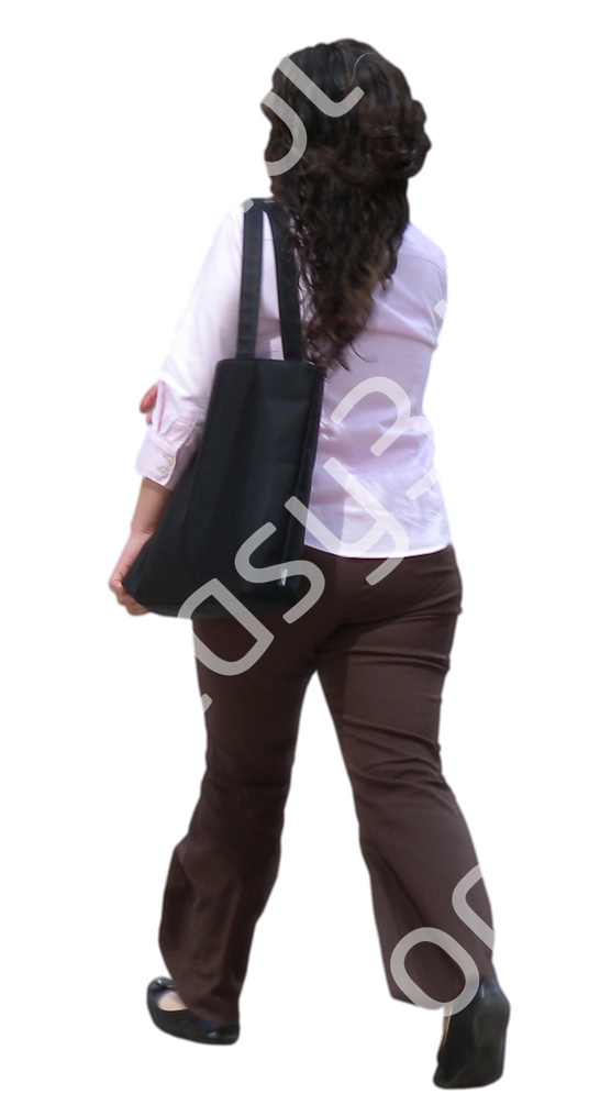 (Single) Business People V. 1 #036 woman, walking