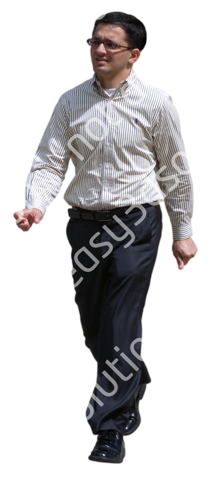 (Single) Business People V. 1 #038 man, walking