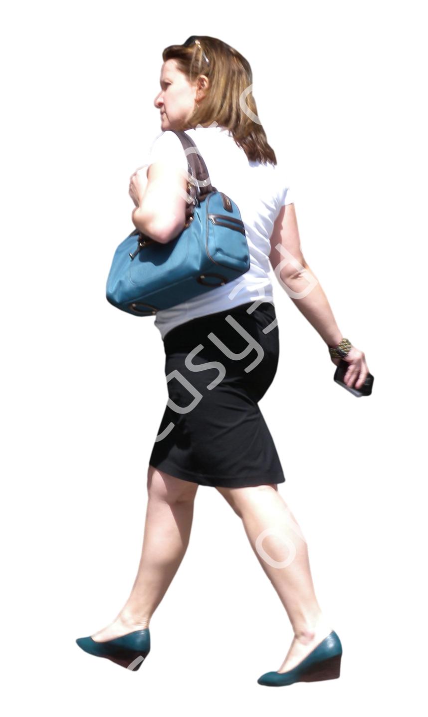 (Single) Business People V. 1 #040 woman, walking
