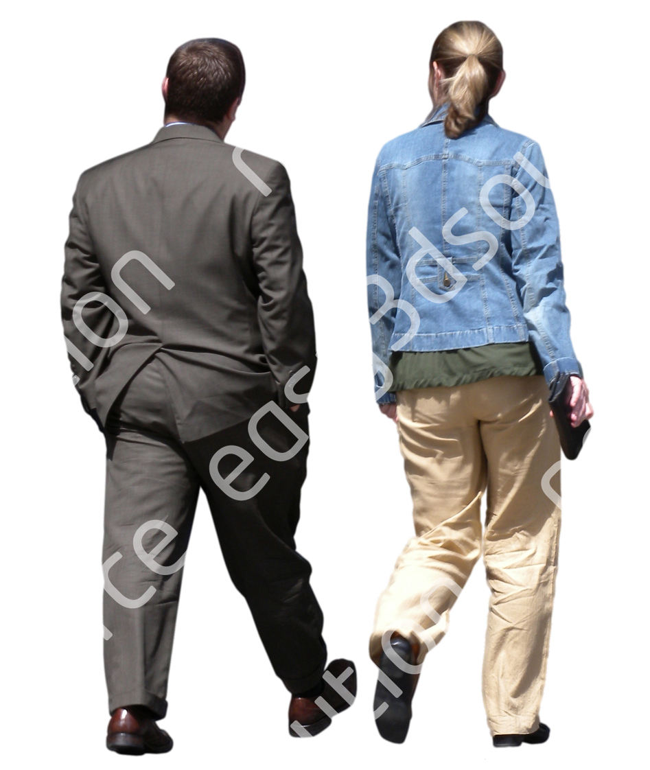 (Single) Business People V. 1 #041 man, woman, walking
