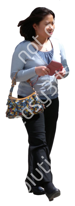 (Single) Business People V. 1 #046 woman, walking