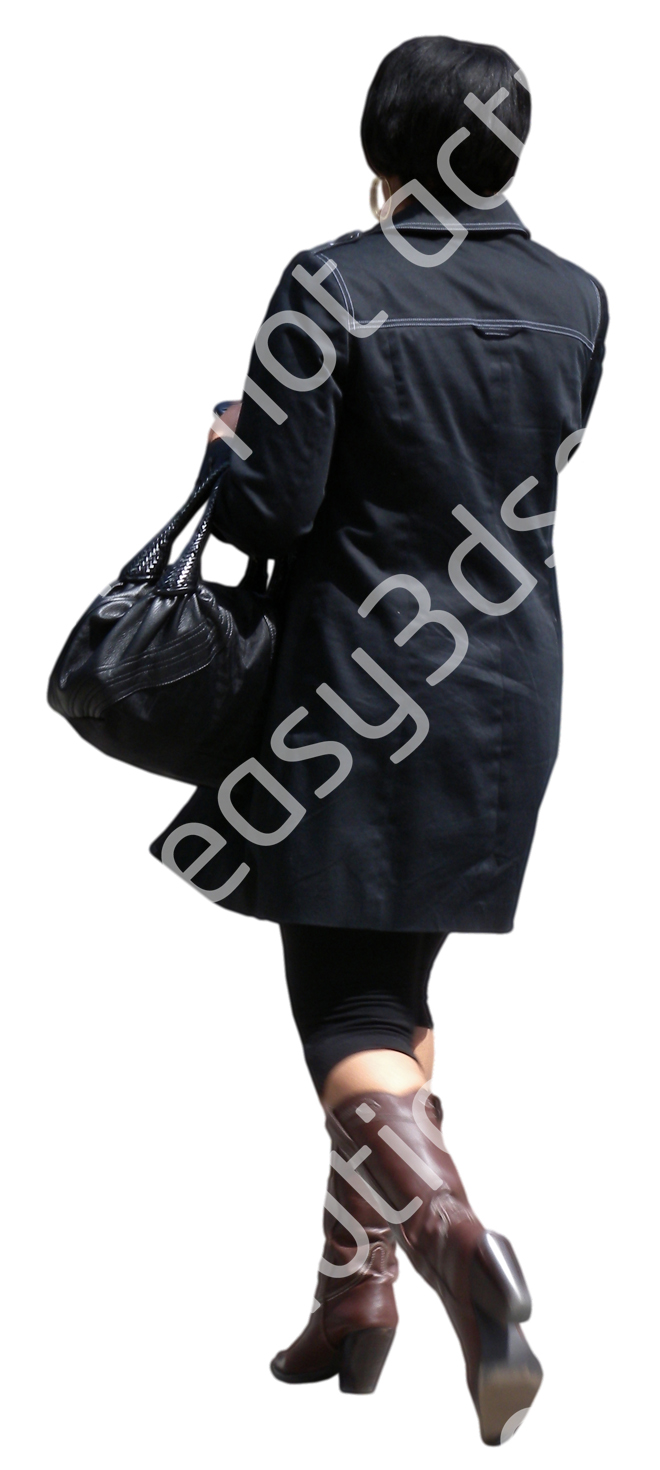 (Single) Business People V. 1 #048 woman, walking
