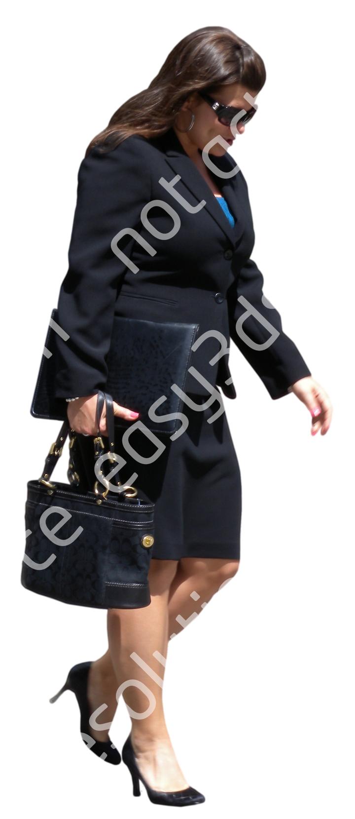 (Single) Business People V. 1 #054 woman, walking
