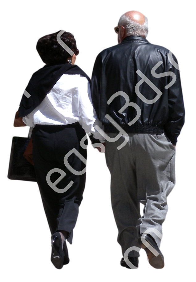 (Single) Business People V. 1 #058 man, woman, walking