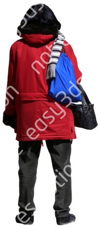 (Single) Cool Weather Casual V. 1 #004 woman, standing
