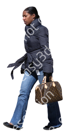 (Single) Cool Weather Casual V. 1 #007 woman, walking
