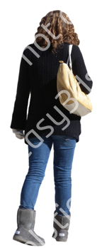 (Single) Cool Weather Casual V. 1 #033 girl, walking