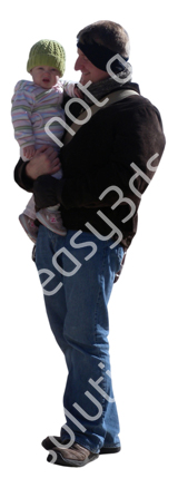 (Single) Cool Weather Casual V. 1 #034 man, walking with baby