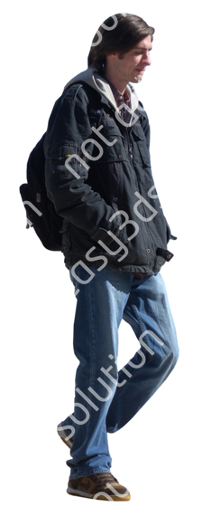 (Single) Cool Weather Casual V. 1 #038 man, walking
