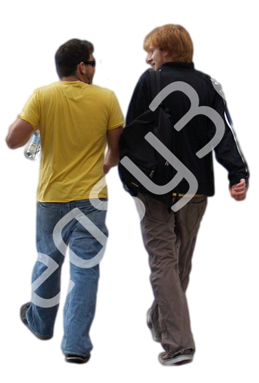 (Single) Casual People V. 1 #011 young men, walking