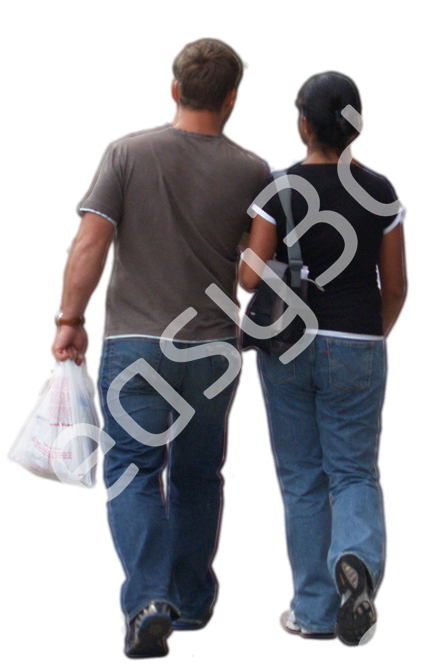 (Single) Casual People V. 1 #016 couple, walking