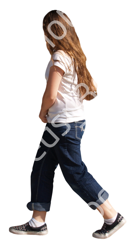 (Single) Casual People V. 1 #043 girl, walking