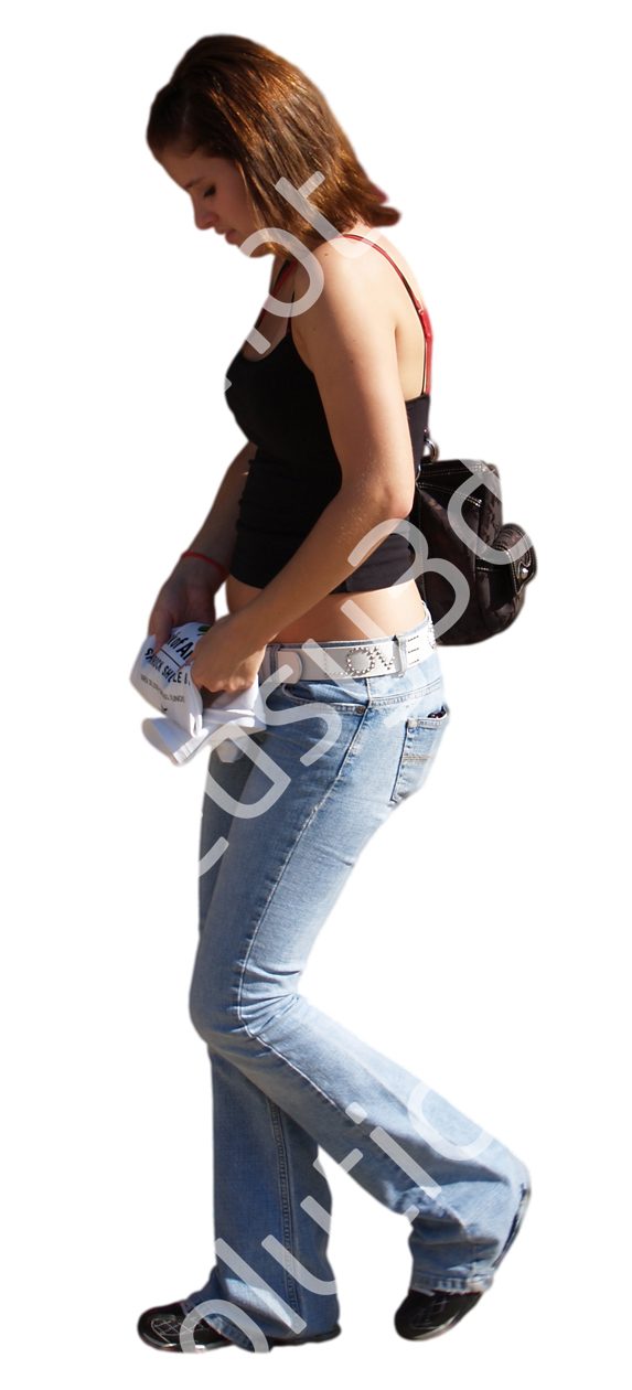 (Single) Casual People V. 1 #045 young woman, walking