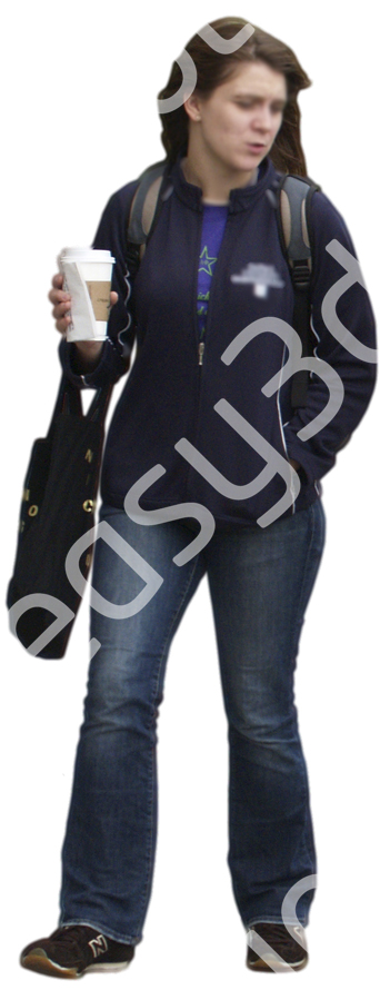 (Single) Casual People V. 2 #002 young woman, walking