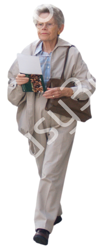 (Single) Casual People V. 2 #007 old woman, walking