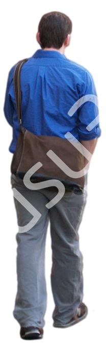 (Single) Casual People V. 2 #008 young man, walking away