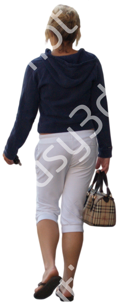 (Single) Casual People V. 2 #009 young woman, walking