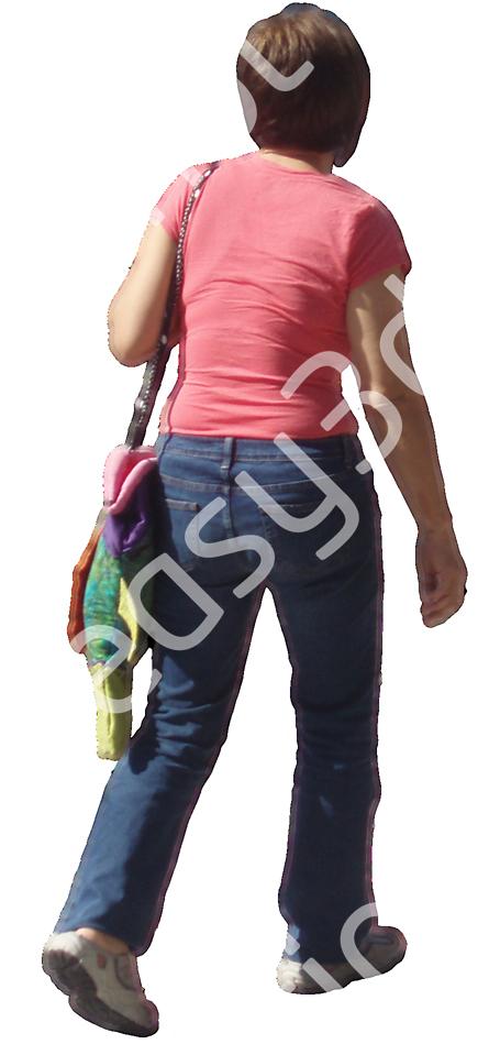 (Single) Casual People V. 2 #010 woman, walking