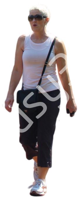 (Single) Casual People V. 2 #019 woman, walking