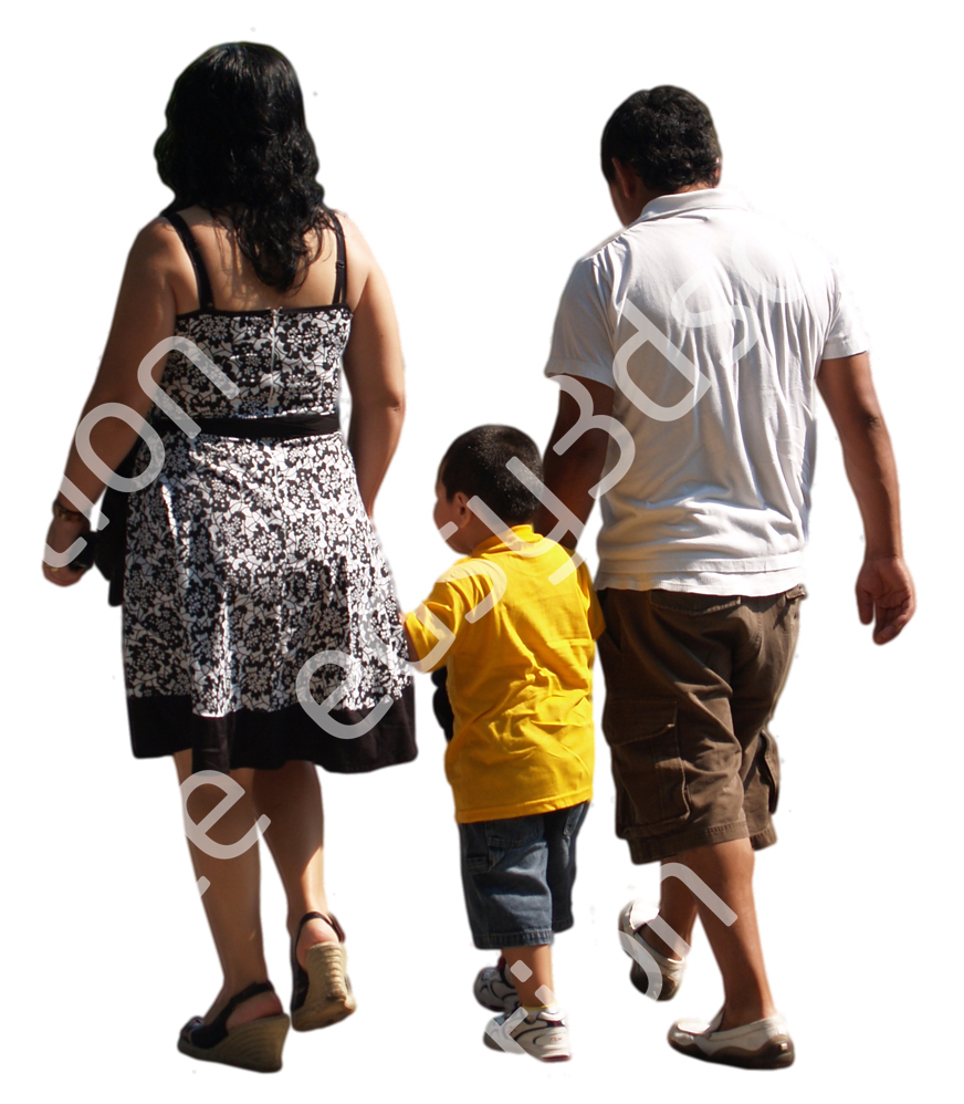 (Single) Casual People V. 2 #025 family, walking