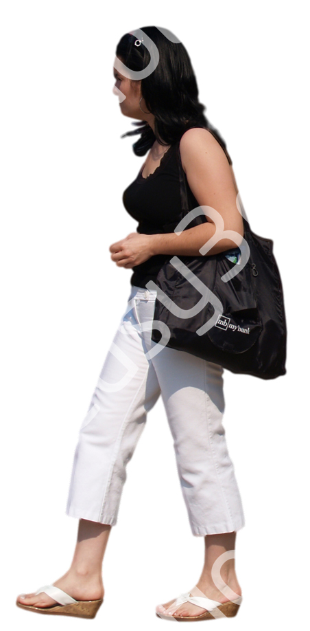 (Single) Casual People V. 2 #032 woman, walking