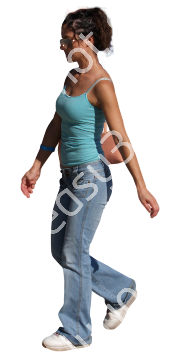 (Single) Casual People V. 2 #056 young woman, walking
